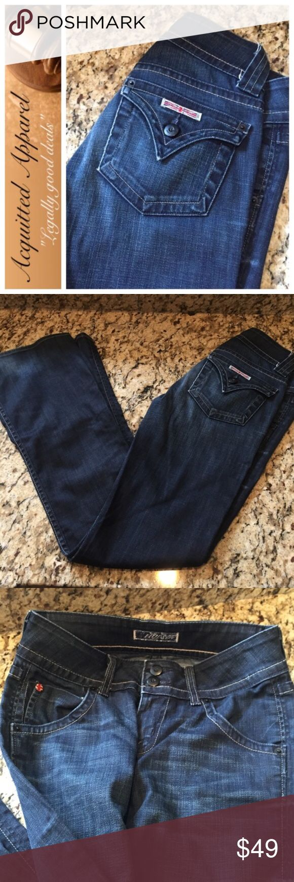 "[Hudson] Jeans Classic Flare Leg Jeans 32.5 Inseam Excellent condition. Minimal wear. Super cute dark wash. Flare leg. Classic pocket. Approx 32.5"" inseam. Hudson Classic Pocket Jeans Hudson Jeans Jeans Flare & Wide Leg"