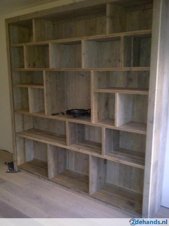 Unieke kwaliteit boekenkast van steigerhout in elke maat