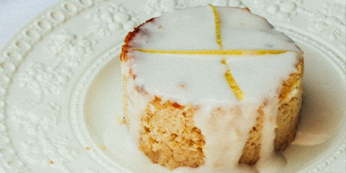 This beautiful lemon cake comes from our friend Alice Nicholls, the gal behind the blog The Whole Daily.