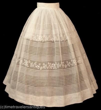 1840s petticoat