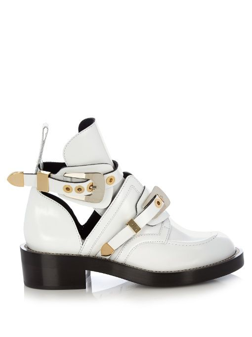 Ceinture cut-out leather ankle boots | Balenciaga