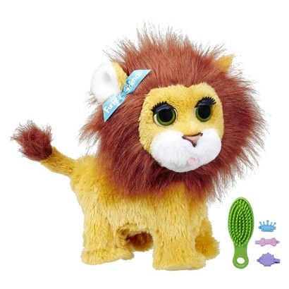 "FurReal Friends Roarin', My Bouncin' Lion Toy.  He's looking at the picture now and saying ""I like a lion!"""