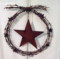 Barbed Wire Star Wreath