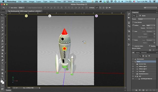 Photoshop CC supporta la stampa 3D