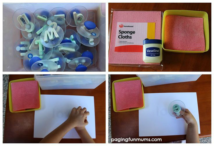 Another pinner:  Magic Paint Resist Stamping - perfect for learning sight words. -