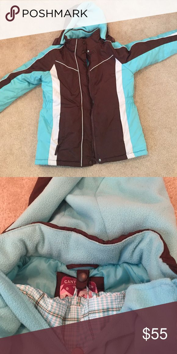☃Snow Days Winter Jacket Sale☃ Super warm winter jacket with extra thick liner that comes out (zips in or out-easy zipper). Hood, zipper and buttons - super warm. Size M (10/12). Canyon River Blues Jackets & Coats