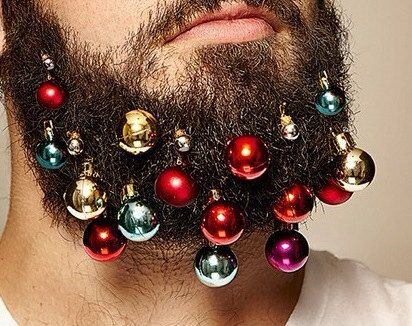Beard ornaments for your face beard baubles by UNIQUENOVELTYGIFTS. Never mind 'ugly sweater' contest. This takes things to a whole new level. I've officially seen everything.