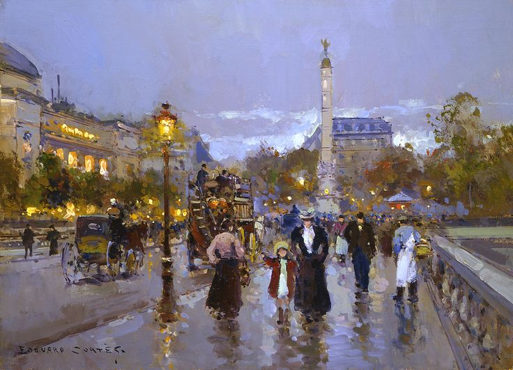 Chatelet Artist: Edouard Cortes. New artist for me.......intoxicating........
