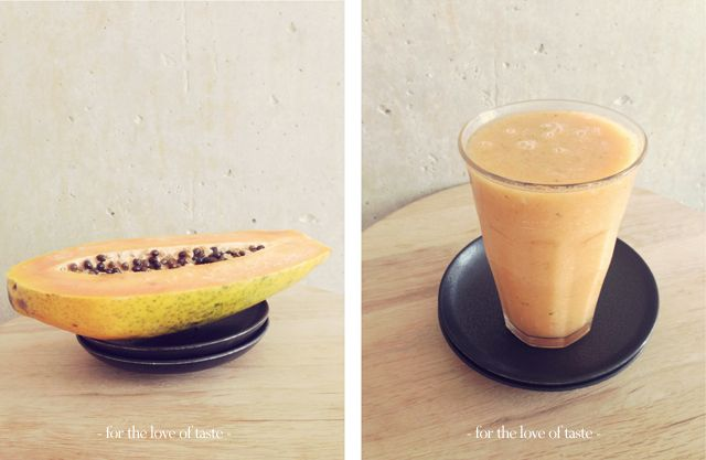 Papaya Lime cool down smoothie /// Papaja Limoen cool down smoothie