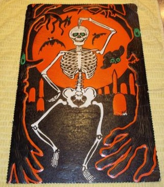 skeletons for halloween vintage decor
