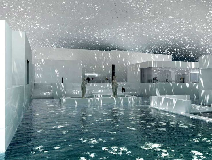 Abu Dhabi Louvre Museum by Jean Nouvel.  Inspired by the way one experiences light under palm groves.