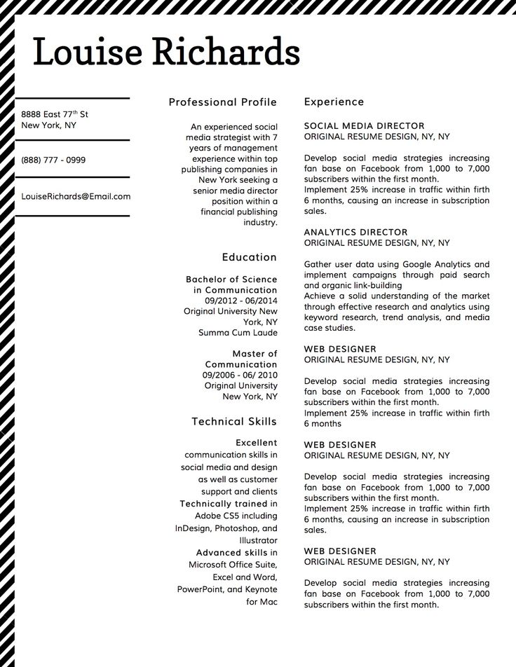 Best Louise Richards Edge  Style Resume Templates Images On