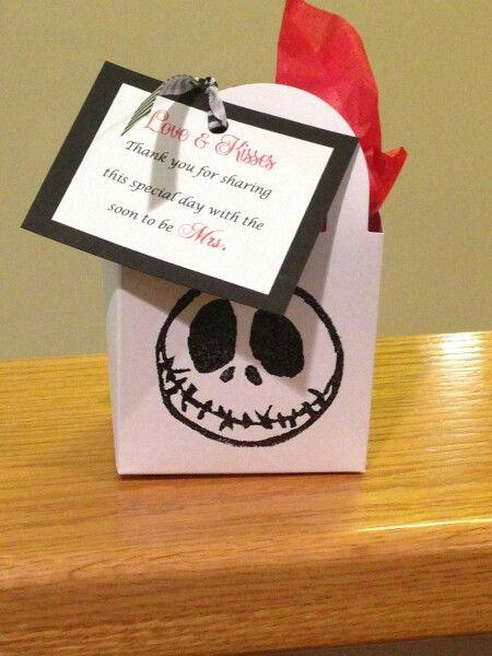 Nightmare Before Christmas Bridal Shower Favor Jack Skeleton Made