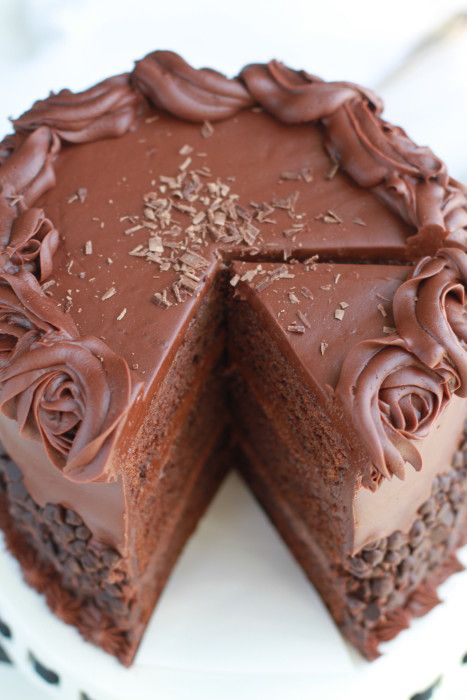 Ultimate Triple Chocolate Layer Cake - Super decadent and moist triple layer chocolate cake with the easiest and best milk chocolate frosting.