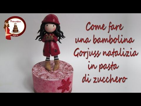 How to Make a Gorjuss Cake Topper out of Fondant - YouTube