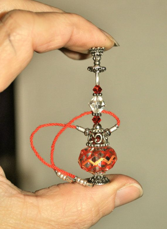 Dollhouse Miniature Hippie Hookah Clear Red by Purpose4Everything