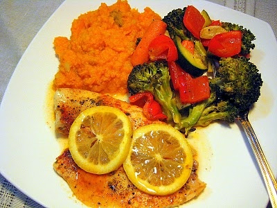 CAJUN SPICED LEMONY BAKED FISH WITH MASHED SWEET POTATOES   Healthier ...