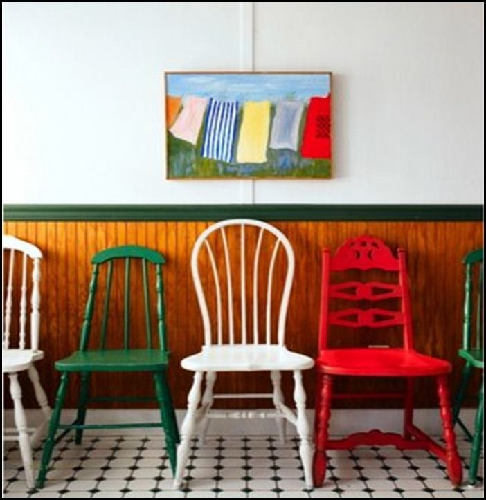 Color Works - Mismatched Chairs in Solid Colors