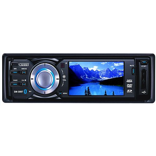 """Sumas Media SM-30BT 3"""" Digital Wide Touch Screen Car Stereo DVD Receiver with Bluetooth"""