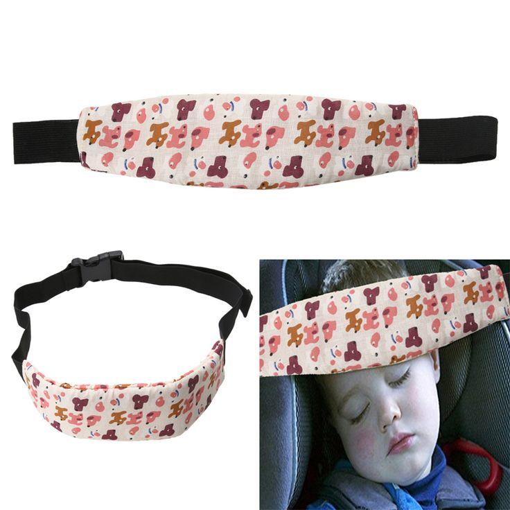 New Arrival Baby Safety Infants Baby Head Support Pram Stroller Safety Seat Fastening Belt Adjustable Playpens Sleep Positioner