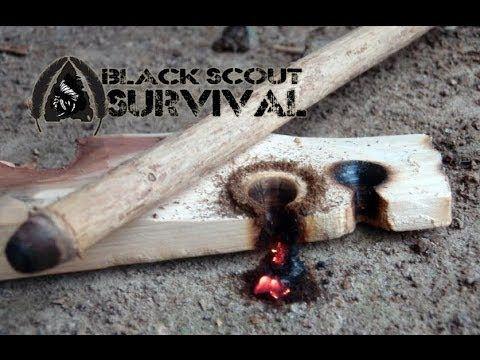 Hand Drill Primitive Fire Making Technique- Black Scout Tutorials