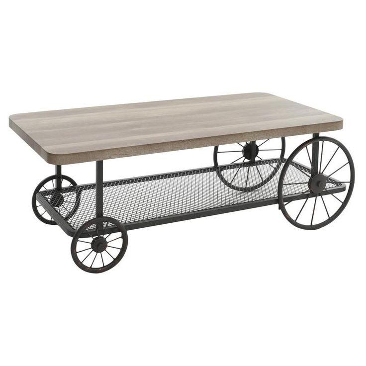 Холна маса от дърво и метал / #мебели #обзавеждане #маса