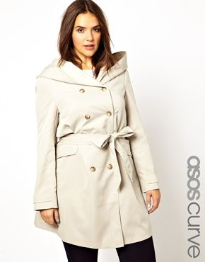 ASOS CURVE Double Breasted Mac my Olivia pope coat