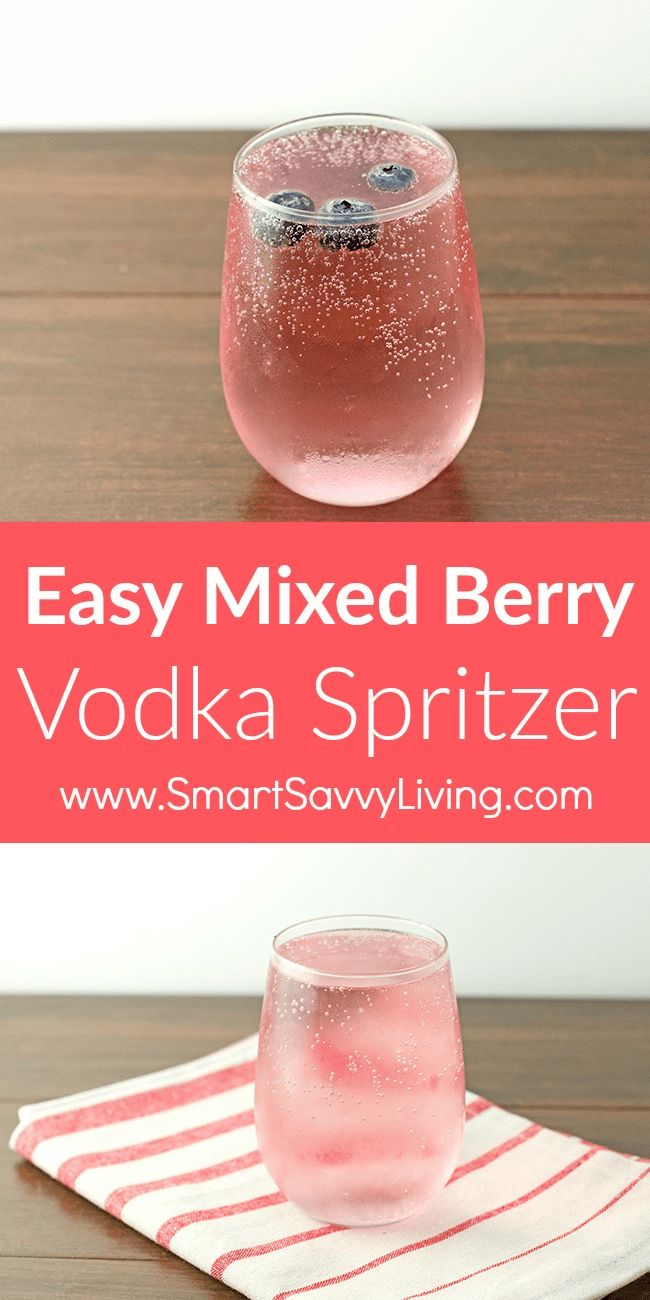 Easy Mixed Berry Vodka Spritzer Recipe - This super easy cocktail recipe is perfect for when you want a drink to enjoy after a long day or to serve with a weekend breakfast or brunch. via @ssavvyliving
