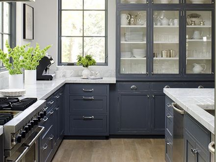 25 best ideas about blue grey kitchens on pinterest for Blue gray kitchen cabinets