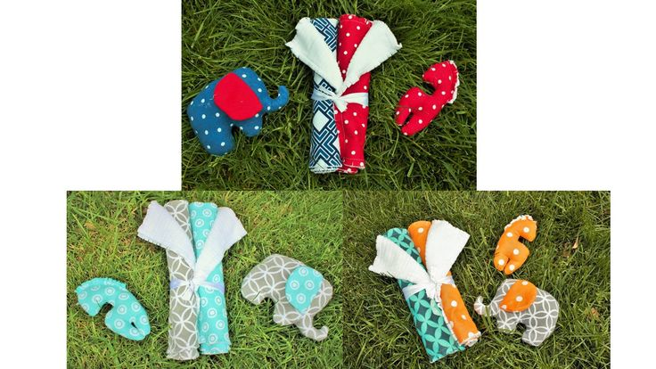 Burp Cloth and Rattle Gift Set by BabyBazerk on Etsy