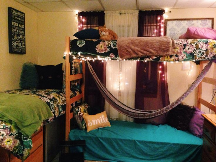 Dorm room with hammock room or dorm ideas pinterest for How to hang a hammock in a room