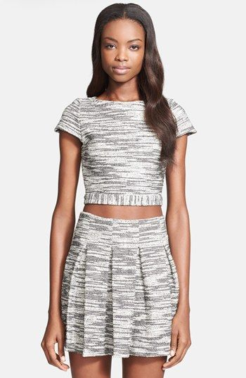 Alice + Olivia 'Elenore' Crop Top available at #Nordstrom