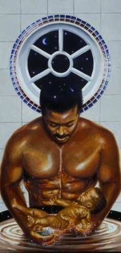 black artist paintings of men | Strong Man (17 X 24) is an original oil painting created by artist ...