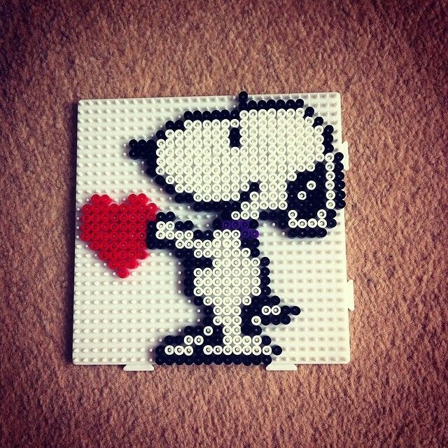 Hama beads snoopy biby creations Couture tutorial pyssla