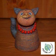 Keramická kočka střední