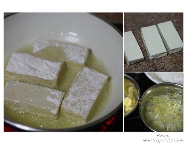 Receta de tofu crujiente. Pasos