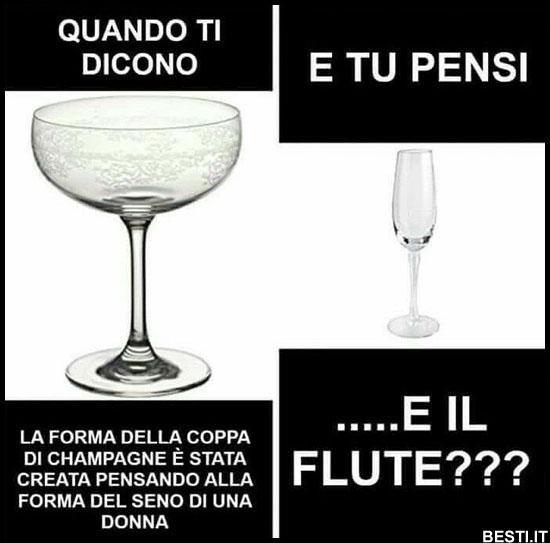 La forma della coppa di champagne
