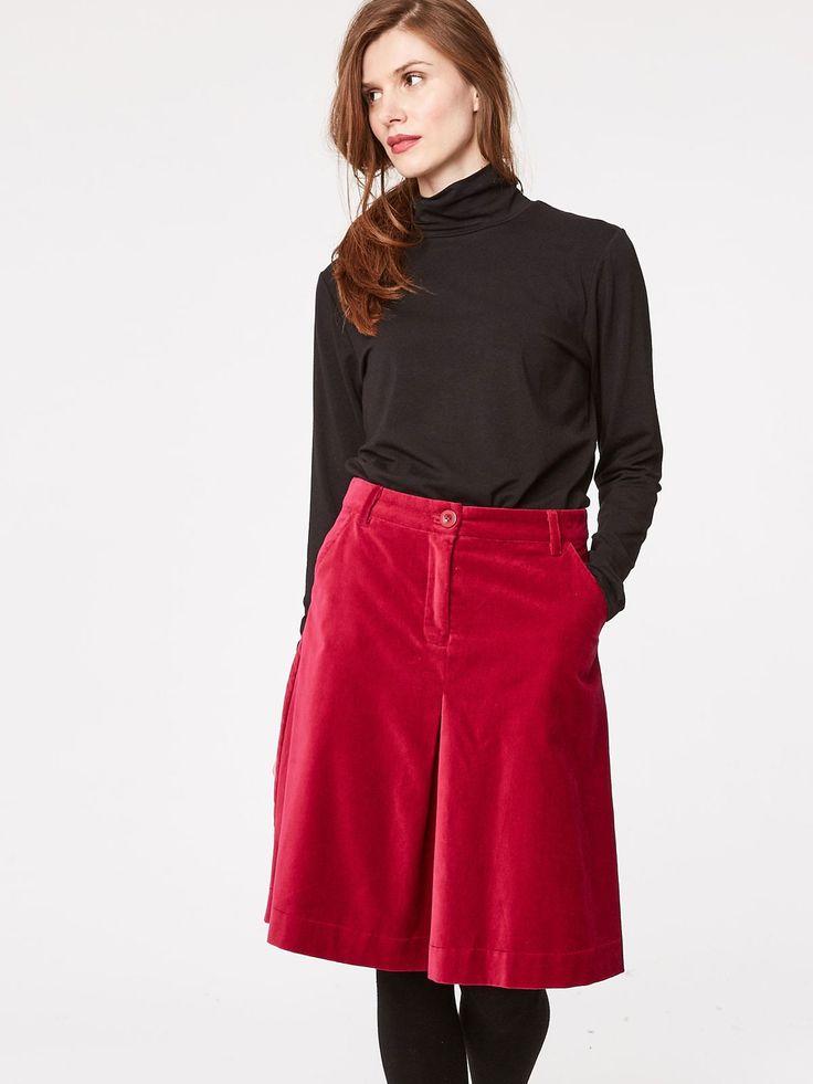 Beatrice Organic Cotton Velvet Skirt  - Women's Sale - Sale