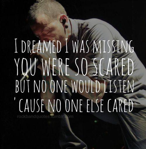 Linkin Park - leave out all the rest lyrics'  my sister loves this song. so do i.