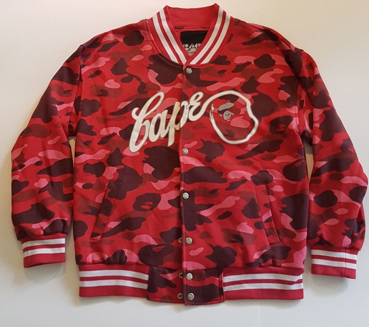 Bape Camo Jacket - Red - Large | eBay