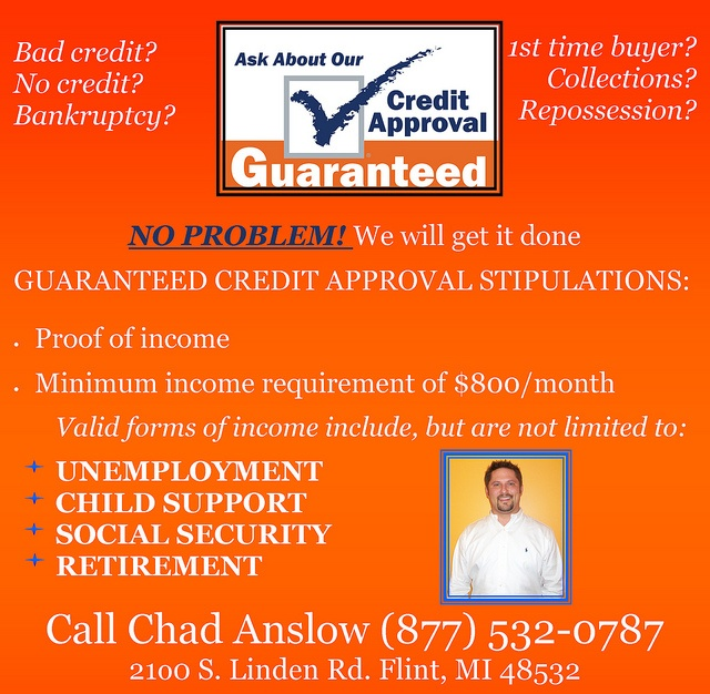 Are you in need of a vehicle but are afraid you can't get financing? Then you need to call Chad!:  Internet Site,  Website, Web Site
