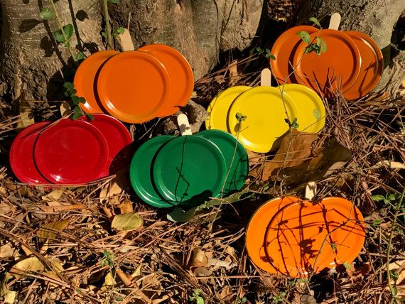 Mason Jar Lid Pumpkin and Apple Magnets Fall by DixieShineDesign