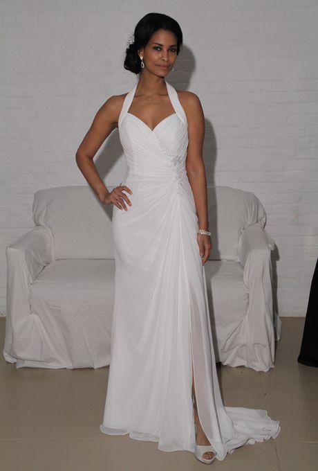 david's bridal destination halter top dresses | WG3482 David's Bridal Wedding Dress Fall 2012 - Sleeveless Halter ...