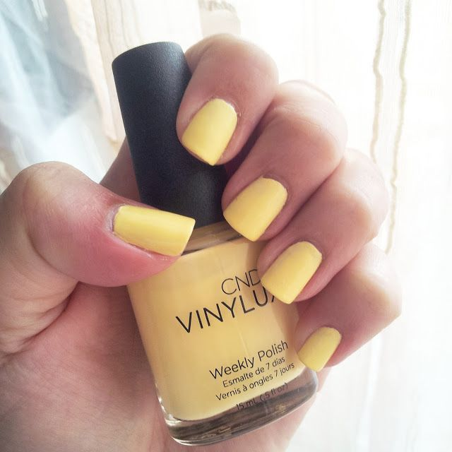 Stars and stellars           : Cnd Vinylux Sun Bleached : The perfect pastel yell...