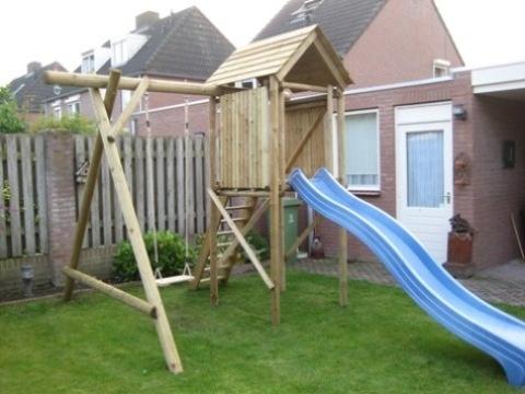 Is uw tuin niet zo groot? Dan passen wij het speeltoestel gewoon aan.