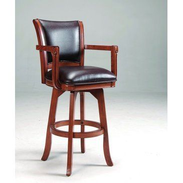 Hillsdale Furniture 4186-830 Park View Swivel Bar Stool, Medium by Hillsdale Furniture. $339.00. Assembled dimensions 44.5 in. H x 23.25 in. W x 22 in. D. Other Dimensions 30 in. Seat Height. Finish Medium Wood. Style Traditional. Color Brown. Finish:Medium Brown Oak Add traditional charm to your bar, game room or kitchen with Hillsdale Furniture's Park View barstool. Finished in a medium brown oak with deep brown leather seat cushions and backs, this swivel stool combines...