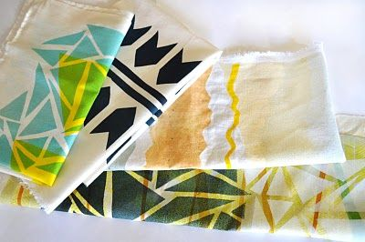 Poppytalk: DIY : Print Your Own Fabric (printing your own designs)