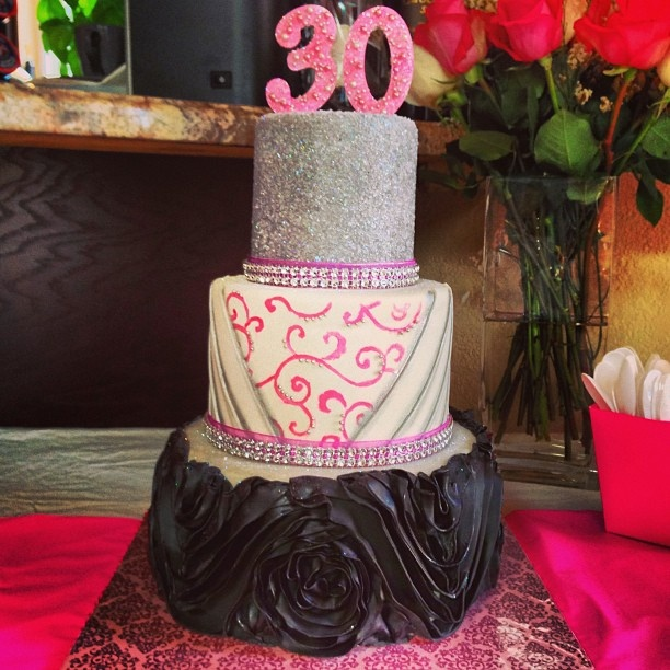 30th Birthday Cake, via Flickr. @Stephanie Murphy Queen Bee Bakery