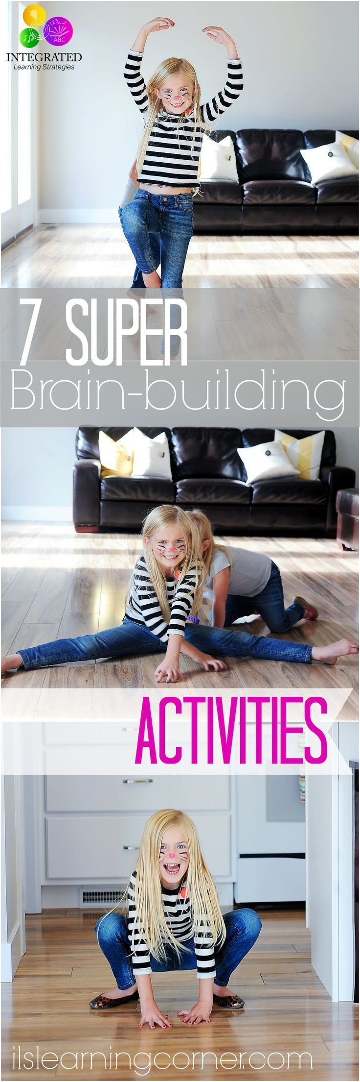 7 Super Brain-building Gross Motor Activities for Kids | ilslearningcorner.com #kidsactivities