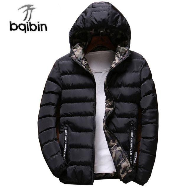 Men Hooded Long Coat Winter Warm Padded Outwear Casual Fashion Parka Jacket